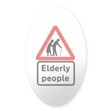 Elderly People, UK Oval Decal