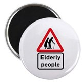 "Elderly People, UK 2.25"" Magnet (10 pack)"