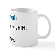 """Nurse Survival"" On Front of Mug"