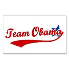 Team Obama Rectangle Decal