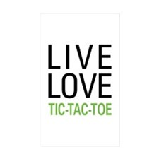 Live Love Tic-Tac-Toe Rectangle Sticker 10 pk)