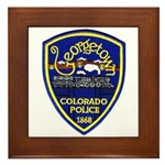 Georgetown Police Framed Tile