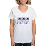 Forecast for Birding Women's V-Neck T-Shirt