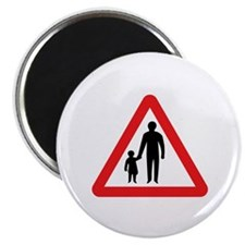 Pedestrians In Road Ahead, UK Magnet