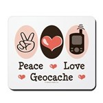 Peace Love Geocache Geocaching Mousepad