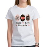 Peace Love Geocache Geocaching Women's T-Shirt