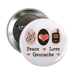 Peace Love Geocache Geocaching 2.25
