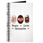 Peace Love Geocache Geocaching Journal
