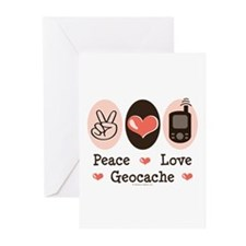 Peace Love Geocache Greeting Cards (Pk of 20)