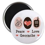 Peace Love Geocache Geocaching Magnet