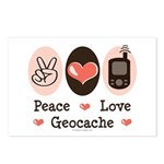 Peace Love Geocache Postcards (Package of 8)