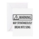 Spontaneous Singer BW Greeting Cards (Pk of 10)