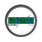 Na Ta Li Ac Color Background Wall Clock