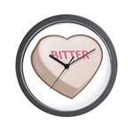 Bitter Candy Heart Wall Clock