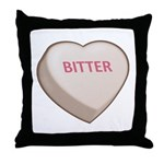Bitter Candy Heart Throw Pillow
