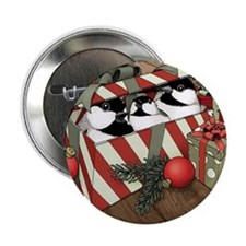"A Chickadee Christmas 2 2.25"" Button (100 pack)"