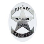 Van Horn Marshal Oval Ornament