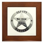 Van Horn Marshal Framed Tile