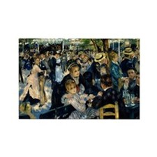 Renoir Moulin de la Galette Rectangle Magnet