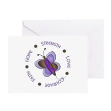 Hope Courage Butterfly 2 EC Greeting Card