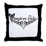 Vampires Rule Throw Pillow