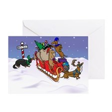 North Pole Dachshunds Christmas Card