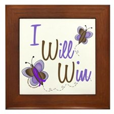 I Will Win Butterfly 2 EC Framed Tile
