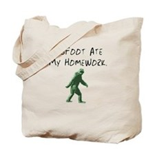Bigfoot Ate My Homework. Tote Bag
