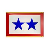 TWO BLUE STAR Rectangle Magnet