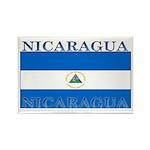 Nicaragua Nicaraguan Flag Rectangle Magnet (100 pa