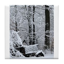 Winter Season Tree Tile Coaster
