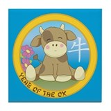 Year of the Ox Tile Coaster