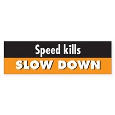 Speed kills Bumper Bumper Sticker