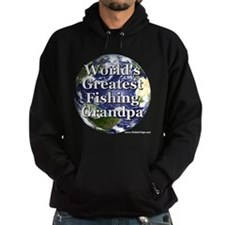 Greatest Fishing Grandpa Dark Hoodie