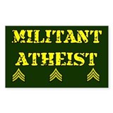 Militant Atheist Rectangle Sticker 10 pk)