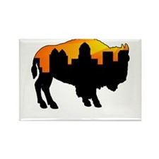 Sunny Day Skyline Rectangle Magnet