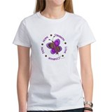 Hope Courage 1 Butterfly 2 PURPLE Tee