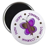 Hope Courage 1 Butterfly 2 PURPLE 2.25&quot; Magnet (10