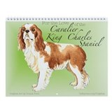Cavalier King Charles Spaniel Wall Calendar