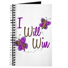I Will Win 1 Butterfly 2 PURPLE Journal