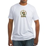MELANCON Family Crest Fitted T-Shirt