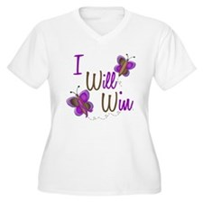 I Will Win 1 Butterfly 2 PURPLE T-Shirt