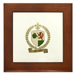 MELANCON Family Crest Framed Tile
