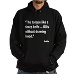 Buddha Sharp Tongue Quote (Front) Hoodie (dark)