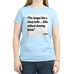 Buddha Sharp Tongue Quote Women's Light T-Shirt