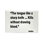 Buddha Sharp Tongue Quote Rectangle Magnet (10 pac