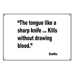Buddha Sharp Tongue Quote Banner