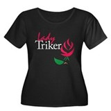 Lady Triker 5 Women's Plus Size Scoop Neck Dark T-