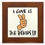 TWO THUMBS UP Framed Tile