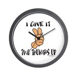 TWO THUMBS UP Wall Clock